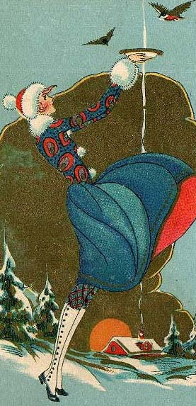 Ar Deco Christmas Card, Artist and exact date unknown